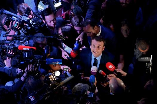 Macron sur la plus haute marche